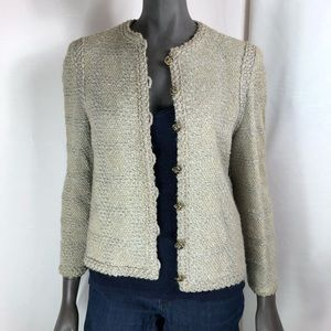Castleberry cardigan gold button business chic
